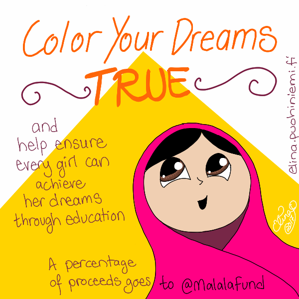 Color Your Dreams True Supports Malala Fund
