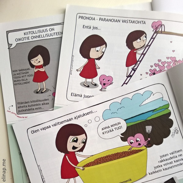 Mira(cle)Doodles comics in Meidän Suomi -magazine, Ink on paper, colored digitally