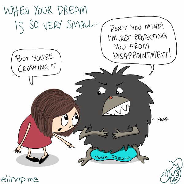Q&Doodle: How to Get Over Fear of Being Disappointed?