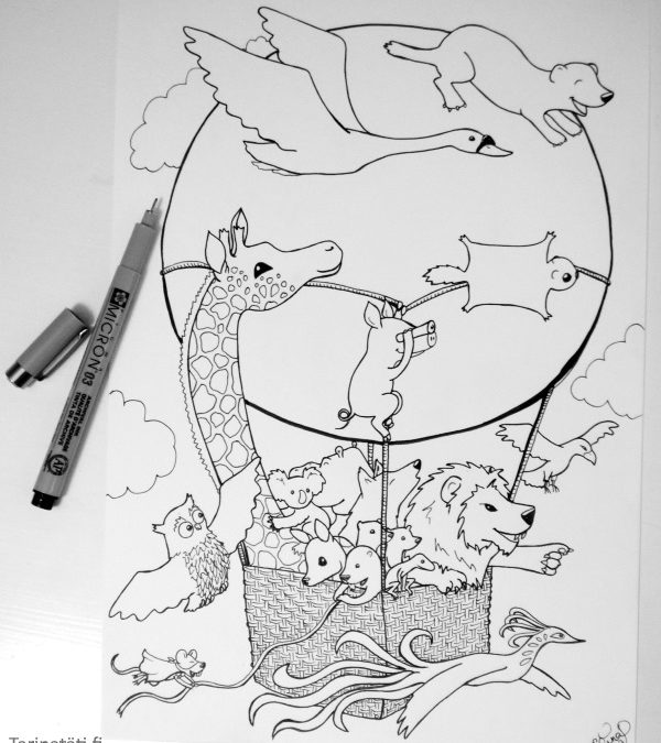 Character Strengths in Ink With Animals