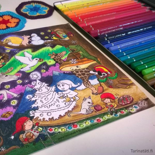 Tarinatädin värityskuvat Coloring picture, A4 ink on paper