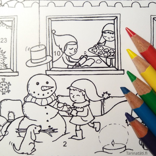 A Christmas Countdown Coloring Picture